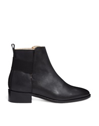 Whistles Jackson Elastic Back Black Ankle Boots