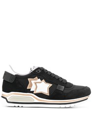 Atlantic Stars Star Patch Sneakers Black