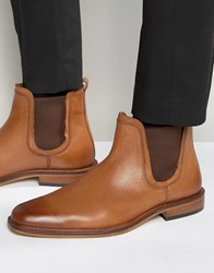 Dune Chelsea Boots Tan Leather Tan