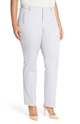 Plus Size Women's Nydj 'Sandrah' Stretch Slim Straight Leg Trousers Pearl Grey