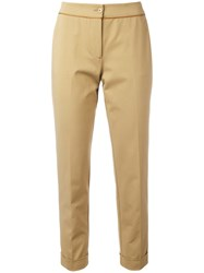 Etro Slim Fit Cropped Trousers Brown