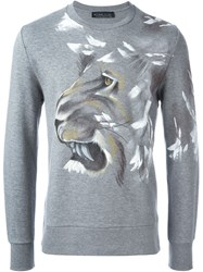 Etro Lion Print Sweatshirt Grey