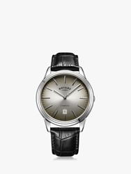 Rotary 'S Cambridge Date Leather Strap Watch Black Grey Gs05390 20