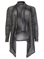 Samya Plus Size Waterfall Drape Cardigan Grey