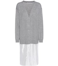Alexander Wang Merino Wool Dress Grey