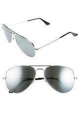 Ray Ban Men's 'Original Aviator' 58Mm Sunglasses Silver Grey Mirror