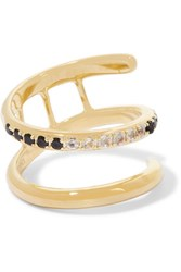 Elizabeth And James Finn Gold Tone Crystal Ring 6