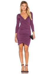 Velvet By Graham And Spencer Beatriz Long Sleeve Body Con Dress Purple