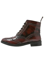 Office Laceup Boots Bordeaux Dark Red