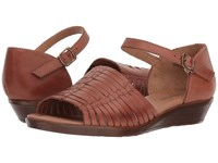 Comfortiva Fayann Rust Wedge Shoes Red