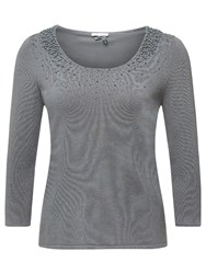 Jacques Vert Pearl Cluster Jumper Light Grey