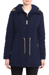 Laundry By Shelli Segal Women's Quilted Jacket Summer Navy