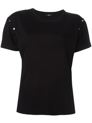 Diesel Studded Sleeve T Shirt Black