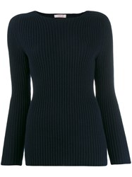 Liska Ribbed Jumper Blue