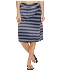 Royal Robbins Active Essential Stripe Skirt Navy Women's Skirt