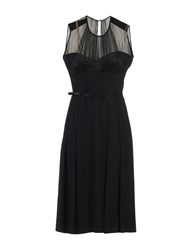 Jonathan Saunders Knee Length Dresses Black