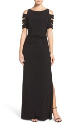 Laundry By Shelli Segal Women's Embellished Sleeve Jersey Gown