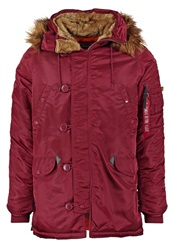 Alpha Industries Parka Burgundy Bordeaux