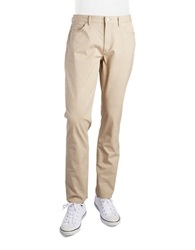Michael Kors Five Pocket Twill Pants Sand