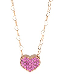 Nanis Heart Pendant Necklace W Pink Sapphire