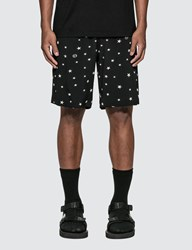Uniform Experiment Pattern Allover Easy Shorts Black