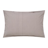 Murmur Ticking Stripe Oxford Pillowcase Charcoal And Linen