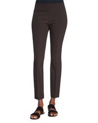 The Row Skinny Leg Ankle Pants Cigar Choco