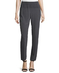 Halston Heritage Slim Leg Embellished Ankle Pants Charcoal Grey