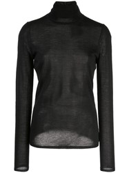 Gabriela Hearst Roll Neck Sweater Black