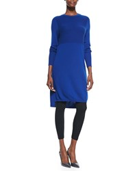 Magaschoni Cashmere Long Sleeve Dress Tunic Celeste