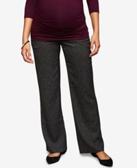 A Pea In The Pod Maternity Bootcut Dress Pants Bkack