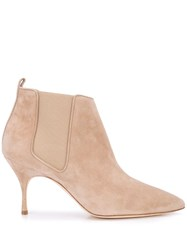 Manolo Blahnik Dildi Ankle Boots Brown