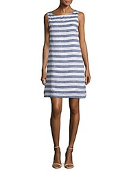 Beach Lunch Lounge Striped Sleeveless Dress Marine