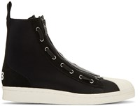 Y 3 Black Pro Zip High Top Sneakers