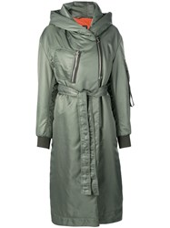 Bacon Belted Down Coat Green