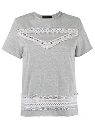 Talie Nk Lace Inserts Top Grey