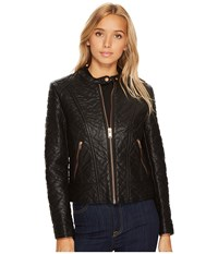 Marc New York Blakely 21 Faux Bubble Leather Jacket Black Women's Coat