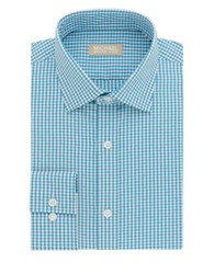 Michael Michael Kors Gingham Printed Dress Shirt Lagoon