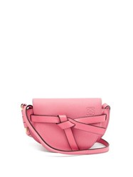 Loewe Gate Mini Grained Leather Cross Body Bag Pink