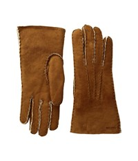 Hestra Sheepskin Gloves Cork Ski Gloves Brown