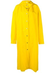 A.W.A.K.E Long Raincoat Yellow Orange