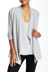 Philosophy Long Sleeve Open Front Cardi Gray