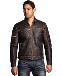 Affliction Recklessness Jacket Brown