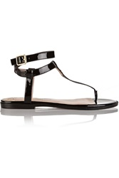 Vivienne Westwood Margie Patent Leather Sandals Black