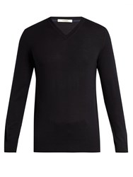 Adam By Adam Lippes V Neck Wool Sweater Navy
