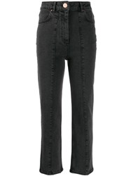 Aalto High Waisted Jeans Grey