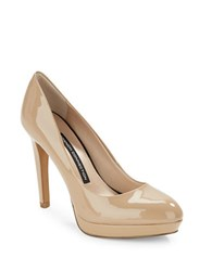 French Connection Robbie Patent Leather Pumps Nude