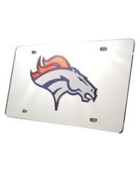 Rico Industries Denver Broncos License Plate Silver