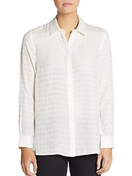 Robert Graham Bryony Houndstooth Jacquard Blouse