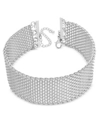 Inc International Concepts Wide Mesh Choker Necklace Only At Macy's Silver